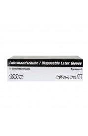 Rokavice latex prozorne velikost M