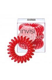 Spiralna  gumica za lase - Invisibobble rdeča