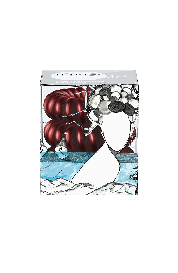 Spiralna  gumica za lase - Invisibobble bordo rdeča