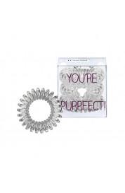Spiralna  gumica za lase - Invisibobble prozorna z bleščicami