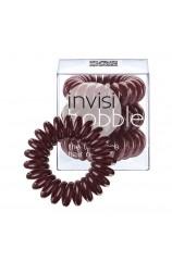 Spiralna  gumica za lase - Invisibobble rjava